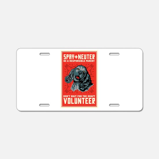 Spay And Neuter Aluminum License Plate