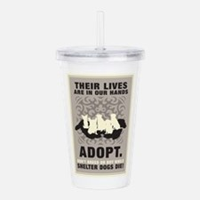 Don't Breed Or Buy Acrylic Double-wall Tumbler