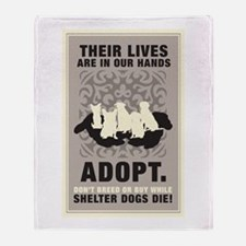 Don't Breed Or Buy Throw Blanket