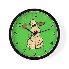 Cute Cartoon Puppy Dog Wall Clock