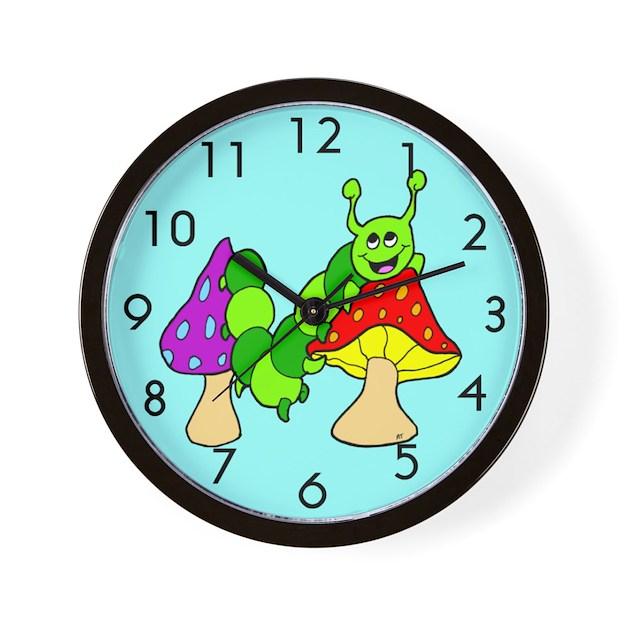 Cute Cartoon Caterpillar Wall Clock By Beingbizarre