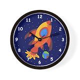 Rocketship Wall Clocks
