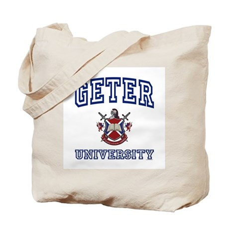 GETER University Tote Bag