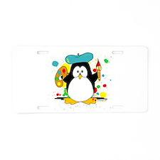Artistic Penguin Aluminum License Plate