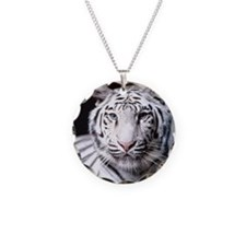 White Bengal Tiger Necklace