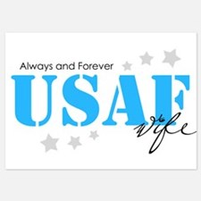 USAF Wife - Always and Forever Invitations