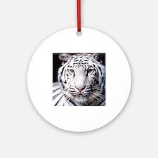 White Bengal Tiger Ornament (Round)