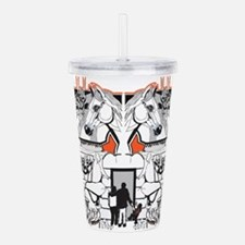 Scared Of The Carousel Acrylic Double-Wall Tumbler