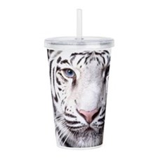White Bengal Tiger Acrylic Double-wall Tumbler