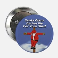 Santa Cross Button