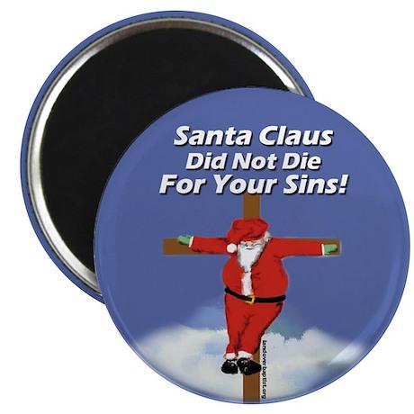 "Santa Cross 2.25"" Magnet (10 pack)"