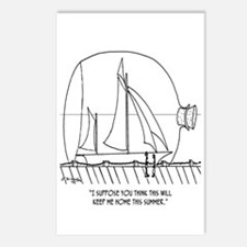 Sailing Cartoon 0352 Postcards (Package of 8)