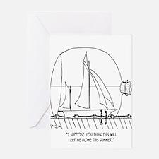 Sailing Cartoon 0352 Greeting Card