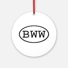 BWW Oval Ornament (Round)