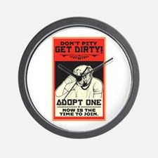 Don't Pity, Get Dirty! Wall Clock