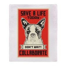 Save A Life Throw Blanket