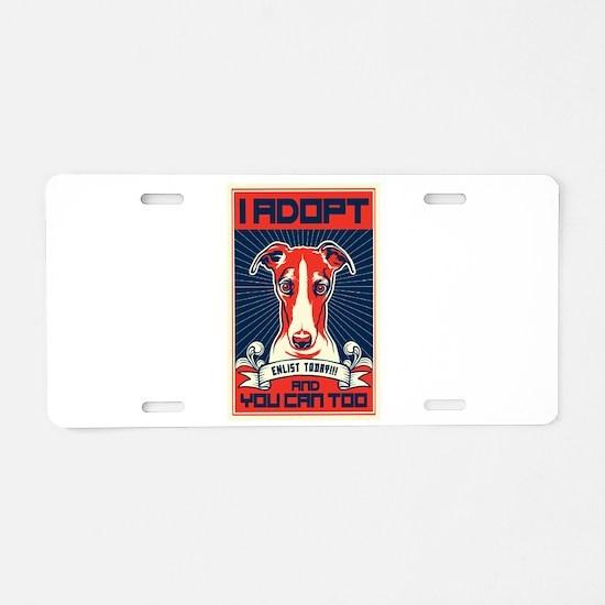 I Adopt Aluminum License Plate