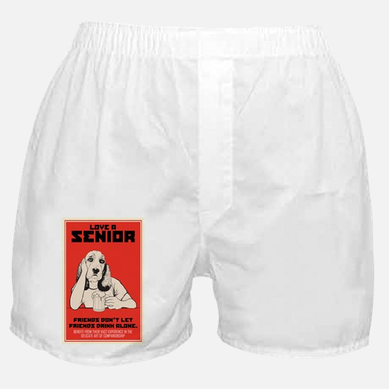 Love A Senior Dog Boxer Shorts