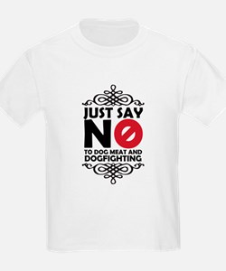 No To Dog Meat & Dogfighting T-Shirt