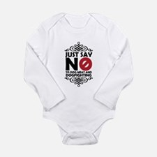 No To Dog Meat & Dogfi Long Sleeve Infant Bodysuit