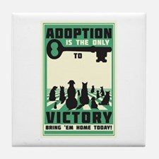 The Key To Victory Tile Coaster