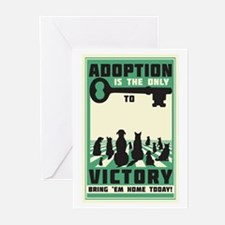 The Key To Victory Greeting Cards (Pk of 20)