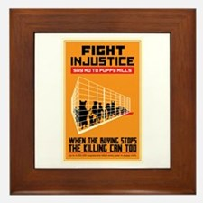 Fight Injustice Framed Tile