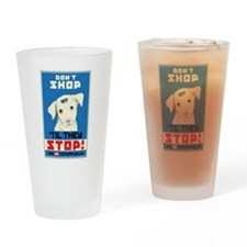 Say No To Puppy Mills Drinking Glass