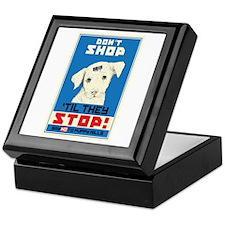 Say No To Puppy Mills Keepsake Box