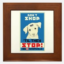 Say No To Puppy Mills Framed Tile