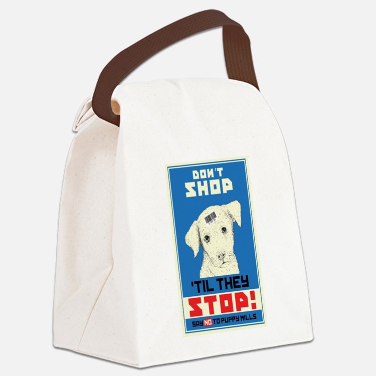 Say No To Puppy Mills Canvas Lunch Bag
