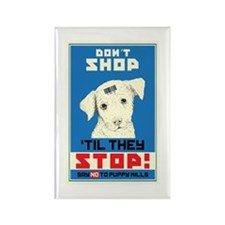 Say No To Puppy Mills Rectangle Magnet