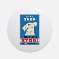 Say No To Puppy Mills Ornament (Round)