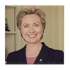 Sen. Hillary Rodham Clinton Tile Coaster