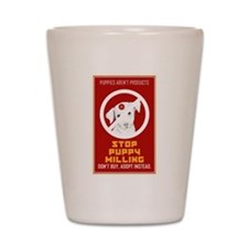 Stop Puppy Milling Shot Glass
