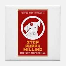 Stop Puppy Milling Tile Coaster