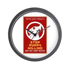 Stop Puppy Milling Wall Clock