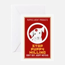 Stop Puppy Milling Greeting Card