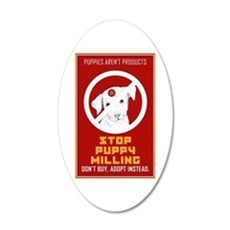 Stop Puppy Milling 20x12 Oval Wall Decal