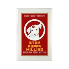 Stop Puppy Milling Rectangle Magnet