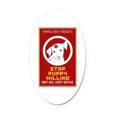 Stop Puppy Milling Oval Car Magnet