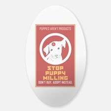 Stop Puppy Milling Sticker (Oval)