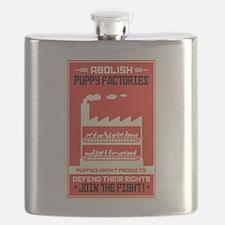 Abolish Puppy Mills Flask