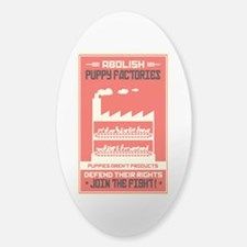 Abolish Puppy Mills Sticker (Oval)