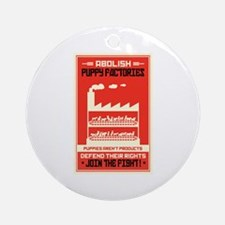 Abolish Puppy Mills Ornament (Round)
