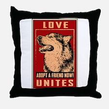 Love Unites Throw Pillow