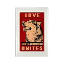 Love Unites Rectangle Magnet