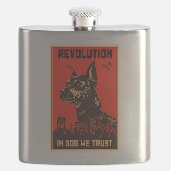 Dog Revolution Flask