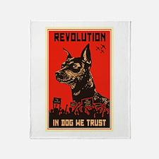 Dog Revolution Throw Blanket