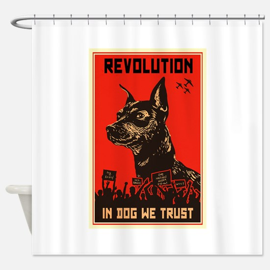 Dog Revolution Shower Curtain